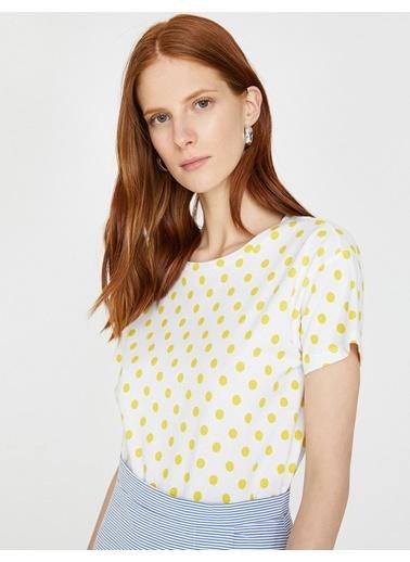 Koton Puantiyeli T-Shirt Sarı